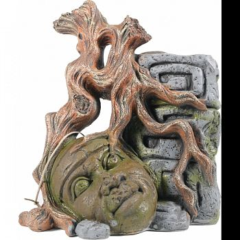 Olmec Colossal Head Aquarium Ornament  6.9X5.7X7.9IN