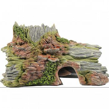 Old Log Hide - Horizontal Aquarium Ornament  9.8X6.7X5.5IN