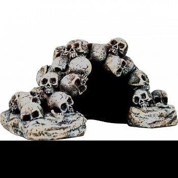 Skull Pile Hide Cave Aquarium Ornament  8.3X5.9X4.3IN