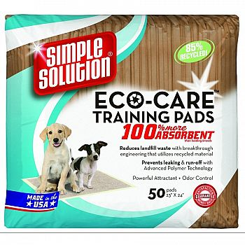 Eco-Care Dog Training Pads - 50 pk.