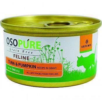 Osopure Grain Free Feline Formula TUNA/PUMPKIN 3 OUNCE (Case of 24)