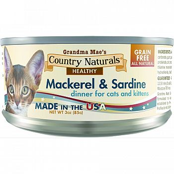 Country Naturals Can Cat Food Grain Free (Case of 24)