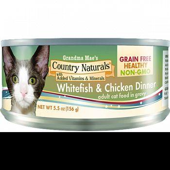 Grain Free Non-gmo Canned Cat Food In Gravy WHITE FISH/CHKN 5.5 OZ (Case of 24)