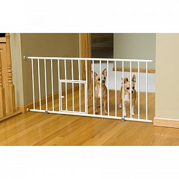 Mini Step Gate With Pet Door