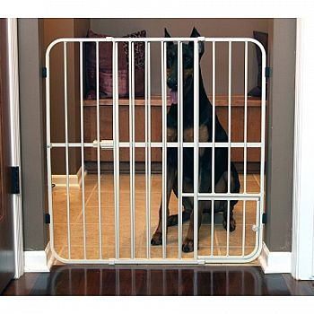 Big Tuffy Expandable Gate With Pet Door