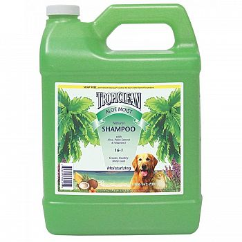Tropiclean Aloe Moist Dog Shampoo 1 gallon