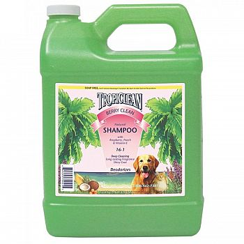 Tropiclean Berry Clean Dog Shampoo 1 gallon