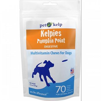 Kelpies Multivitamin Soft Chews Digestive PUMPKIN 4.2 OUNCE