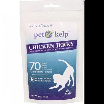 Pet Kelp Chicken Jerky BLUEBERRY 3 OUNCE
