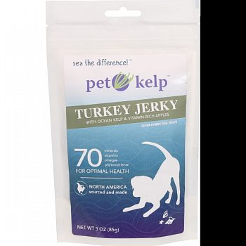 Pet Kelp Turkey Jerky APPLE 3 OUNCE