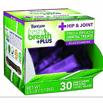Fresh Breath Plus Dental Dog Treats Counter Disply HIP & JOINT 1.2 OUNCE/30 PC