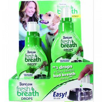 Tropiclean Fresh Breath Drops Counter Display  1.7 OZ/ 6 PACK