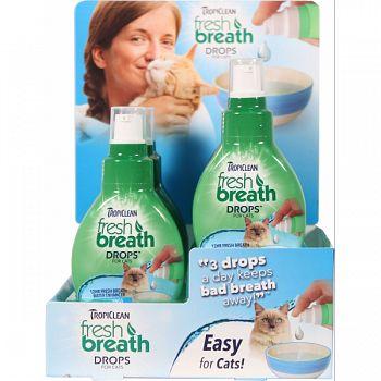 Tropiclean Fresh Breath Drops Cat Counter Display  2.2 OZ/ 6 PIECE