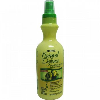 Sentry Natural Defense Flea & Tick Spray For Dogs  8 OZ