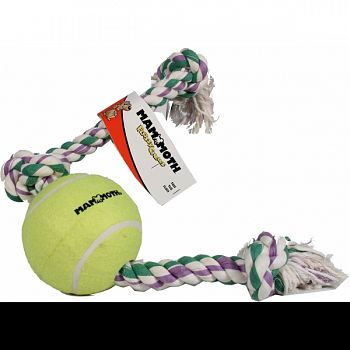 Flossy Chews Rope Tug With Big 6 Inch Tennis Ball MULTICOLORED 36 INCH/XLARGE