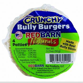 Crunchy Bully Burgers Dog Chews (Case of 24)