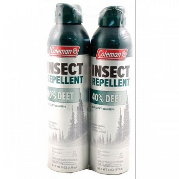 Coleman 40% Deet Insect Repellent Twin Pack