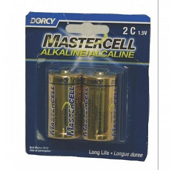 Mastercell Alkaline C Batteries - 2 per Card
