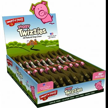Smart N Tasty Piggy Twizzies  12 INCH/30COUNT