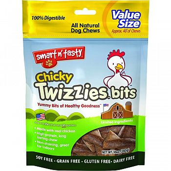 Smart N Tasty Chicky Twizzies Bits CHICKEN 10 OUNCE