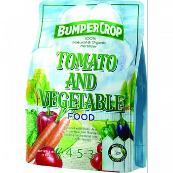Bumper Crop Tomato And Vegetable Plant Food 4-5-3  4 POUND (Case of 12)