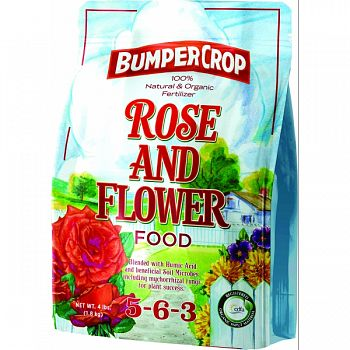 Bumper Crop Rose And Flower Food 5-6-3  4 POUND (Case of 12)