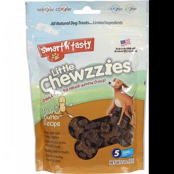 Smart N Tasty Little Chewzzies Dog Treats PEANUT BUTTER 5 OZ