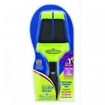 Furminator Firm Slicker Brush For Dogs  SMALL