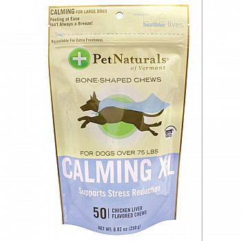 Calming XL Bone-shaped Chews For Dogs Over 75 Lbs - 50 ct.