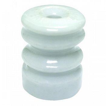 Ceramic Wood Post Insulator W/Washer 25 pack
