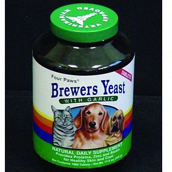 Brewers Yeast With Garlic - 1000 ct.