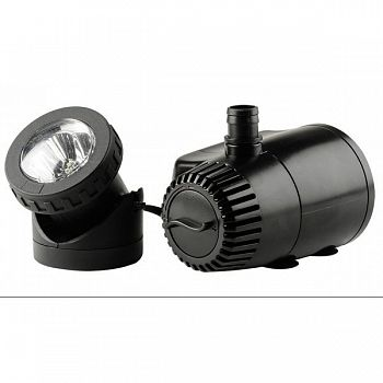 Fountain Pump With Automatic Shut-off & Led Light - 140 GPH