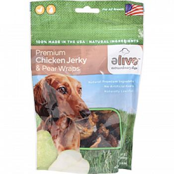 Premium Chicken Jerky And Pear Wraps