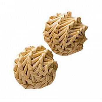 Natural Straw Ball Cat Toy - 2 pack
