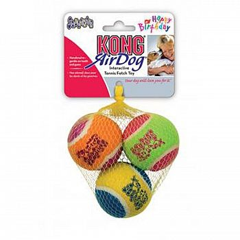 Kong Happy Birthday Dog Ball 3 Pack