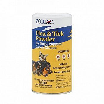 Zodiac Flea & Tick Powder for Dogs and Cats 6 oz.