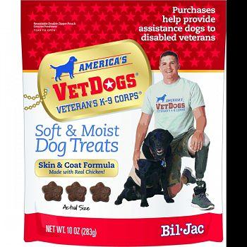 Bil-jac Vet Dog Soft And Moist Dog Treats CHICKEN 10 OZ (Case of 6)