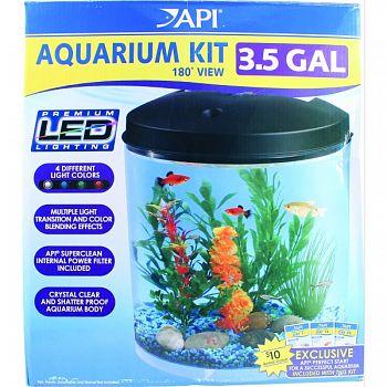 180 Degrees View Round Aquarium Kit  3.5 GALLON
