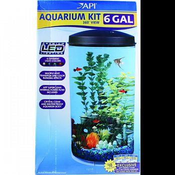 360 Degrees View Round Aquarium Kit  6 GALLON