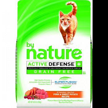 By Nature Grain Free Dry Cat Food PORK/SWEET POTA 4.8 LB