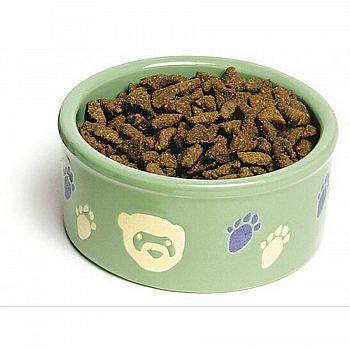 Ferret Pawprint Petware Ceramic Dish - 4.25 in.