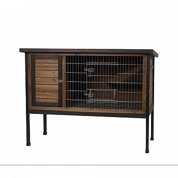Wood Outdoor 1-Story Rabbit Hutch - Large - 48 in.