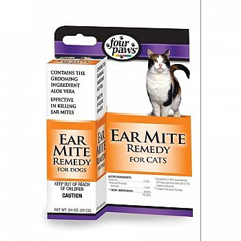 Four Paws Ear Mite Remedy - Cats - .75 oz.