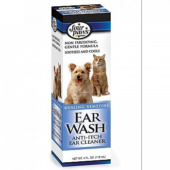 Ear Wash Anti Itch Cleaner for Pets - 4 oz.