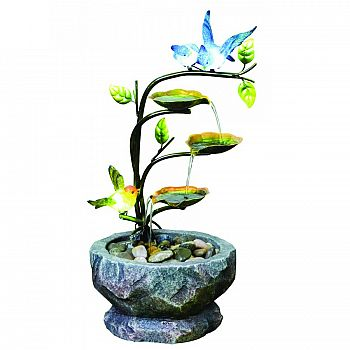 Nature Glow Love Birds Branch With Led Lights