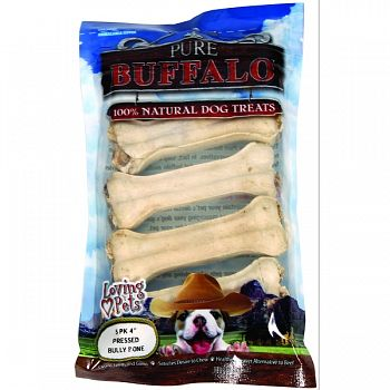 Pure Buffalo Pressed Bully for Dogs