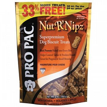 PRO PAC NutRNipz Dog Treats  (Case of 6)