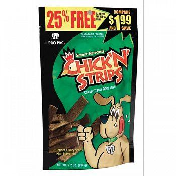 Chick N Strips Dog Treats 7.2 oz.  (Case of 10)
