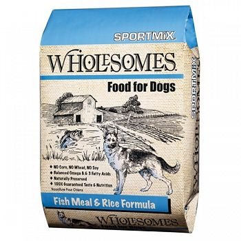 Sportmix Wholesomes Dog Food - Fish Meal & Rice - 40 lbs.
