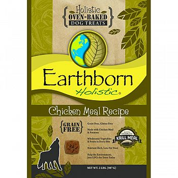 Earthborn Holistic Grain Free Dog Biscuits CHICKEN 2 POUND (Case of 6)